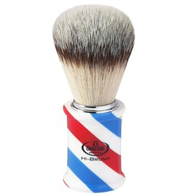 Omega Hi-Brush Barber Pole Scheerkwast Synthetisch Haar