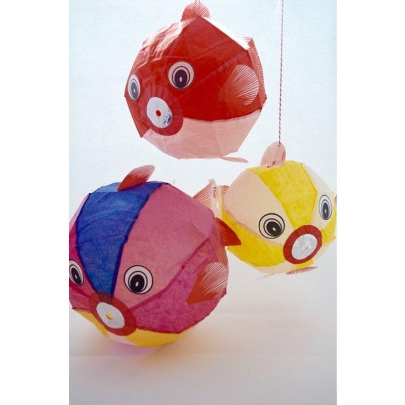 Papieren ballonnetjes goudvis