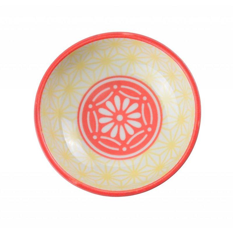 Soy sauce bowl with asa-no-ha pattern