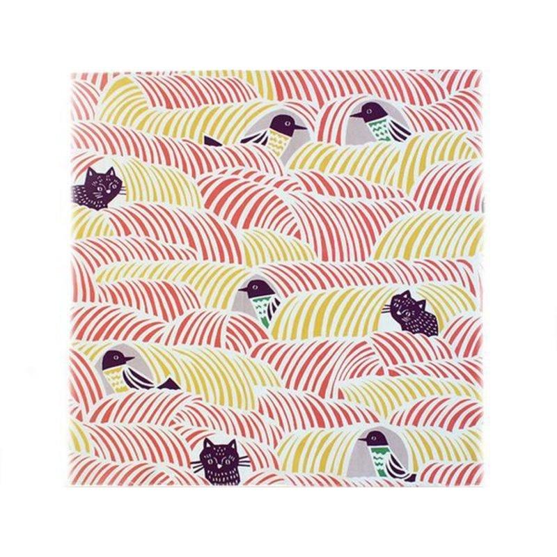 Furoshiki Cat & Chicken - Pink