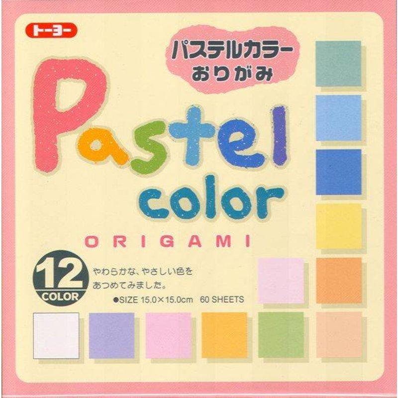 Origami papier pastel kleuren