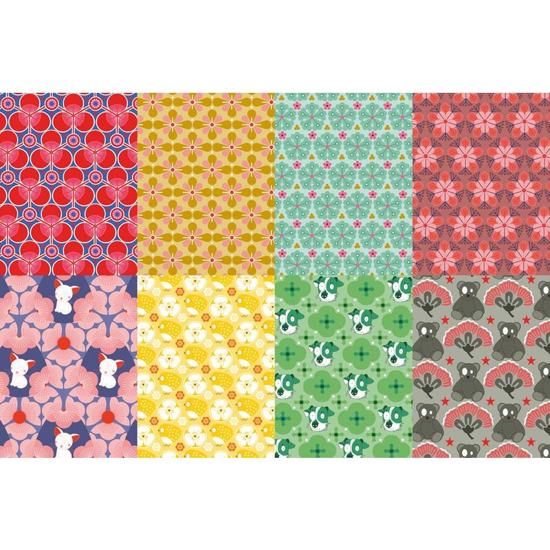 Japanse origami vouwblaadjes