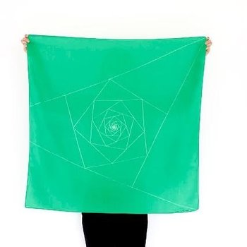 Link Collective Furoshiki Green Triangles