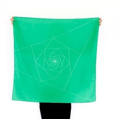 Furoshiki Triangles Green