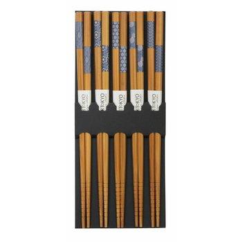 Tokyo Design Studio Chopsticks Bamboo Indigo Pattern