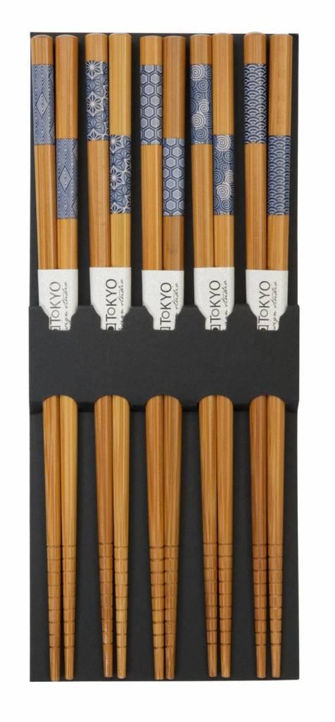 tokyo design studio chopsticks bamboo indigo pattern. Black Bedroom Furniture Sets. Home Design Ideas