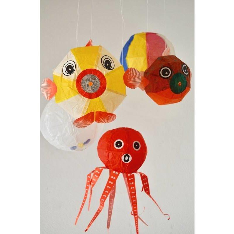 Papieren Ballonnetjes Mix