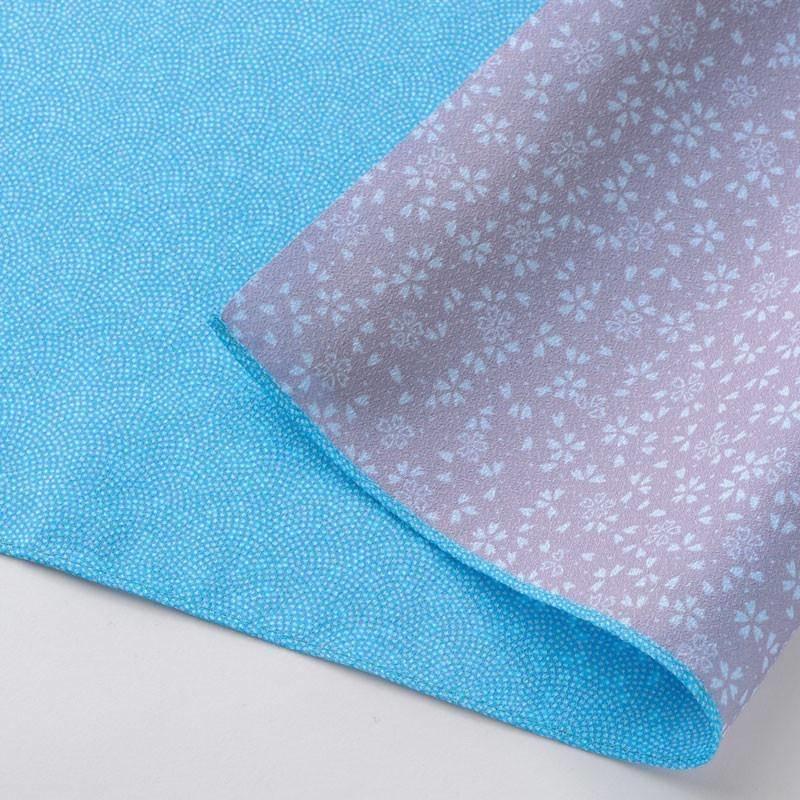 Dubbelzijdige furoshiki lichtblauw-roze