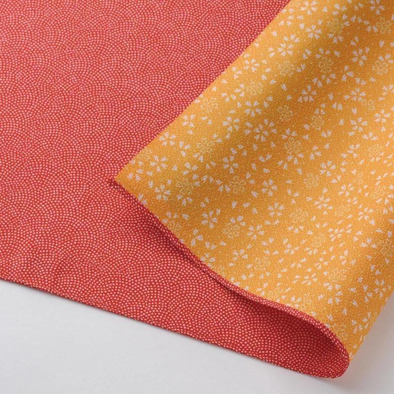 Dubbelzijdige furoshiki rood-geel