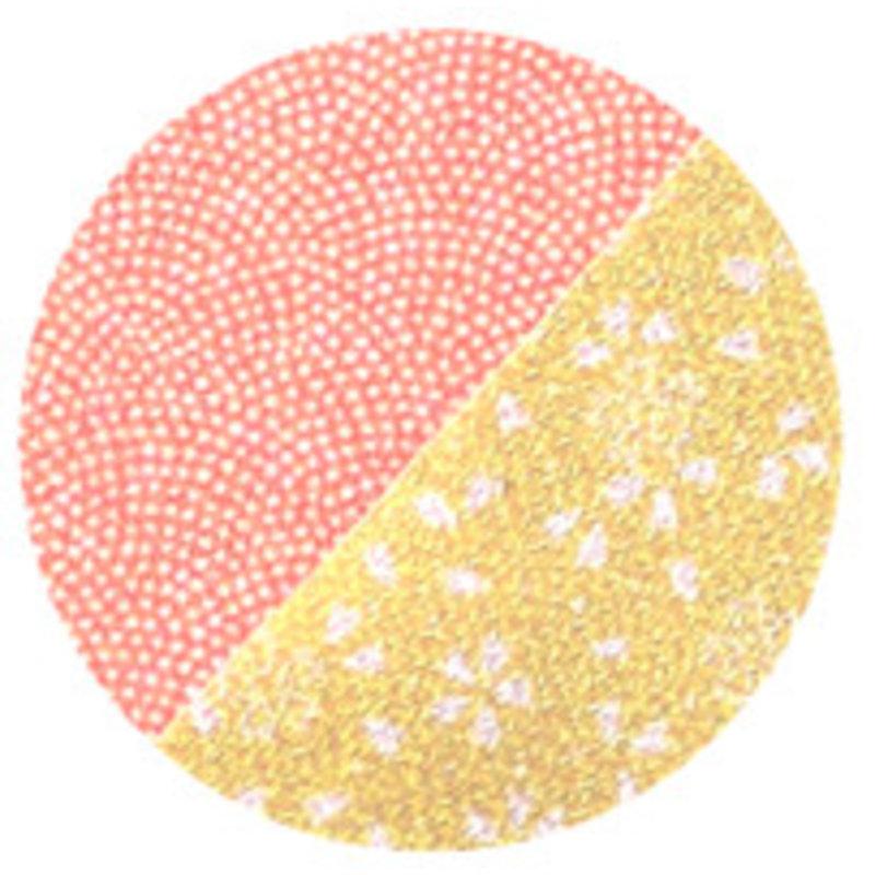 Reversible furoshiki red-yellow