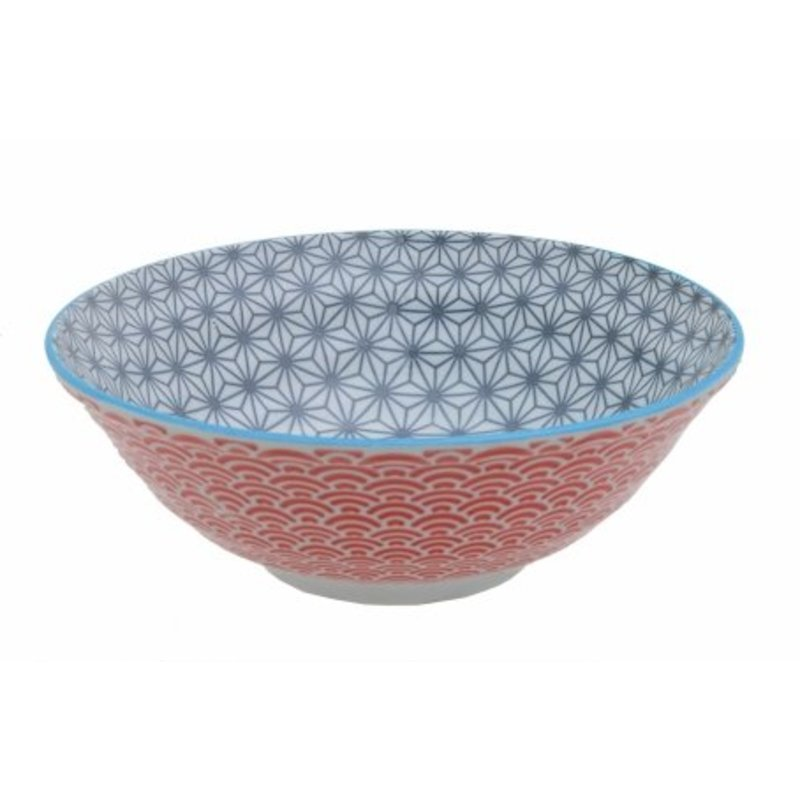 Japanse noedel kom met asanoha patroon