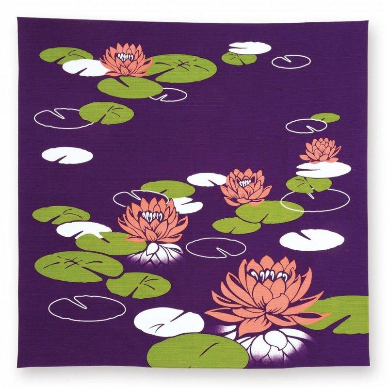 Furoshiki water lilies, Japanese wrapping cloth