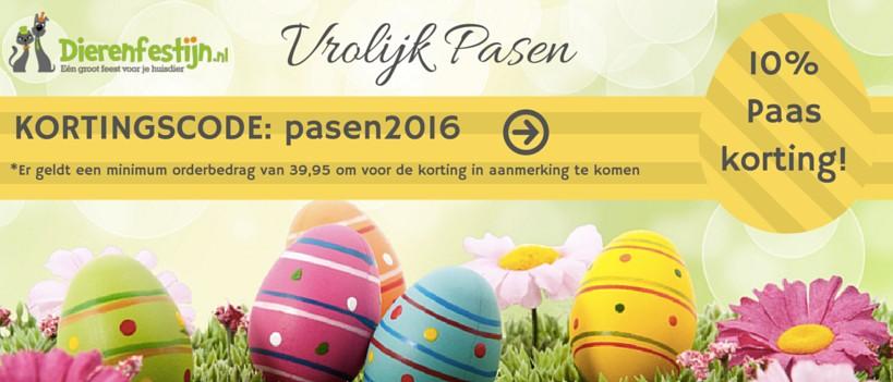 10% paaskorting bij Dierenfestijn.nl
