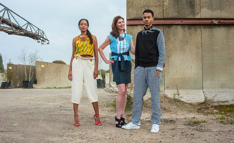 Kleurrijke unieke kleding