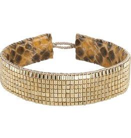 TEMBI JEWELLERY armband Venice RMT60 B A M B O O  G O L D