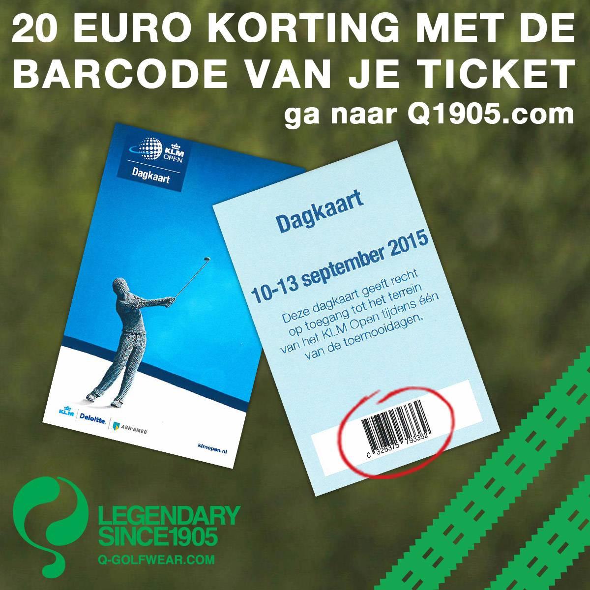 Jouw KLM Open ticket is geld waard