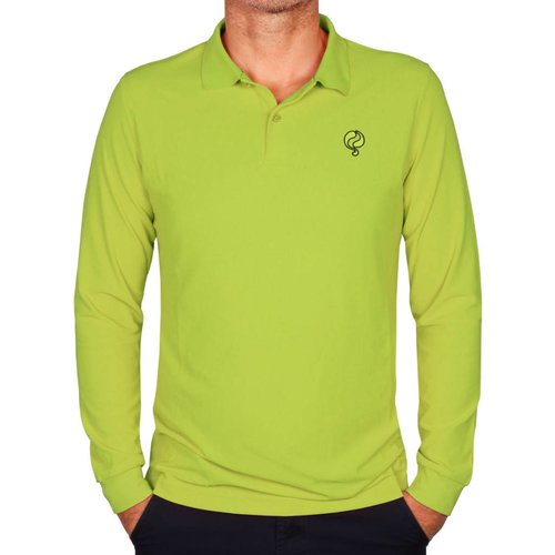 Q1905 Men's Longsleeve Polo JL High Light Green