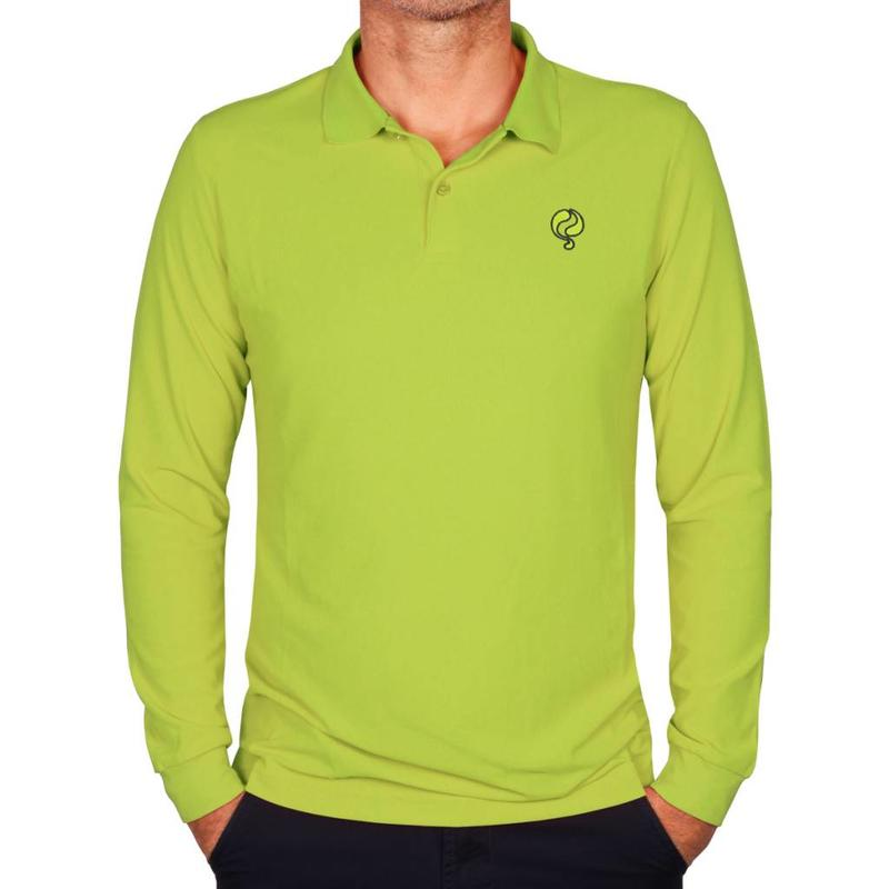 Heren Longsleeve Polo JL High Light Green
