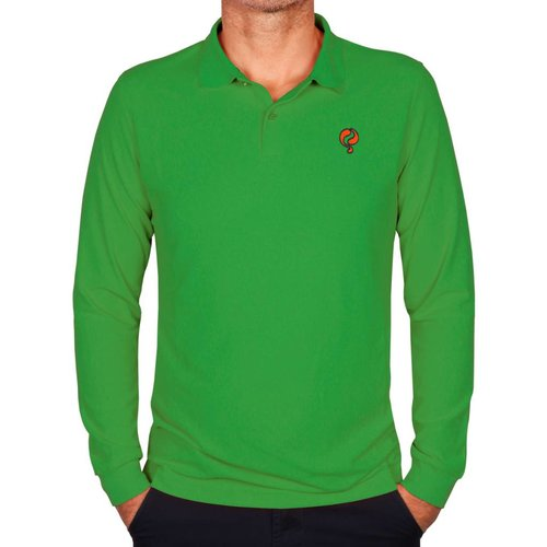 Heren Longsleeve Polo JL High Green
