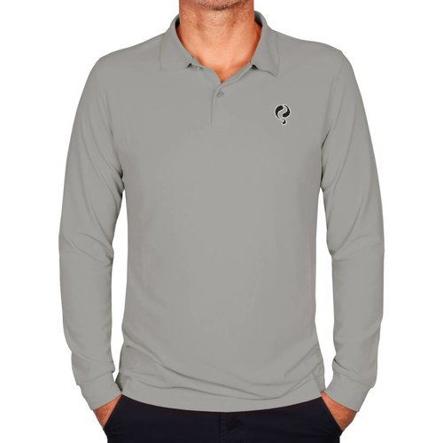 Q1905 Men's Longsleeve Polo JL High Light Grey