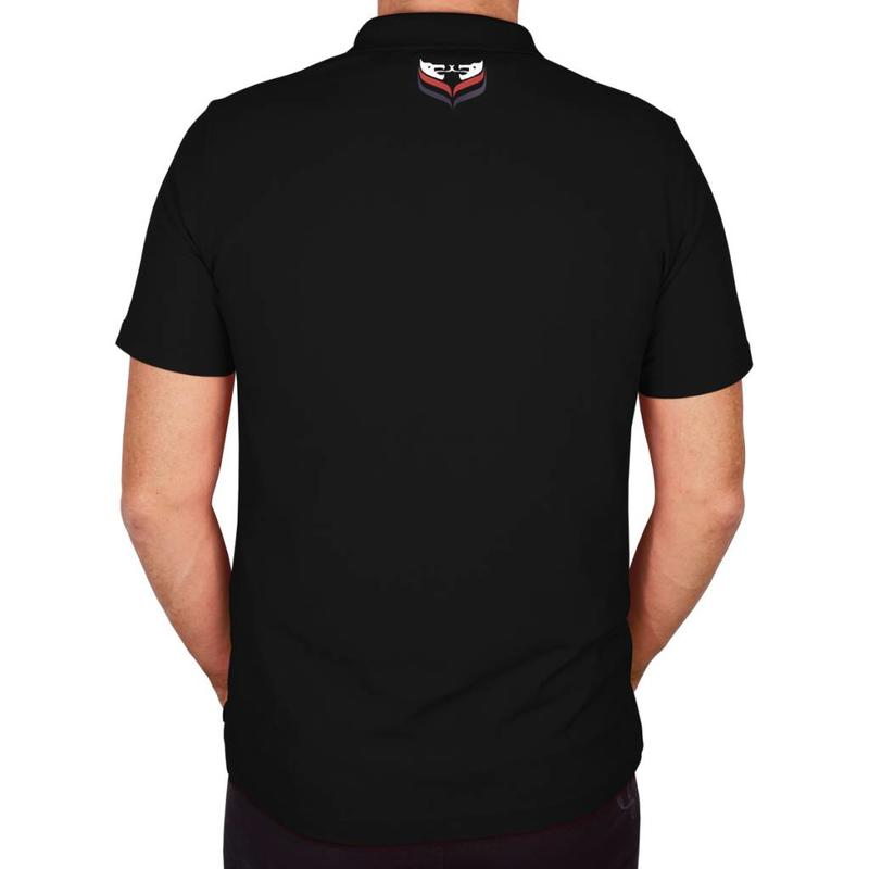 Q1905 Men's Polo JL Flag Black