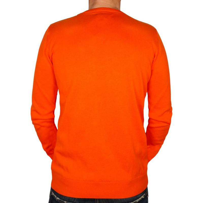 Heren Pullover V-neck Marden Orange