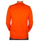 Heren Pullover Ruit Denton Orange