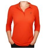 Q1905 Women's 3/4 Polo Distance Orange