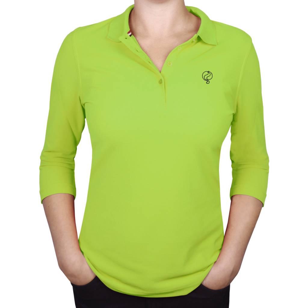 Image of Dames Driekwart Polo Distance Light Green