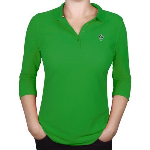 Q1905 Women's 3/4 Polo Distance Green