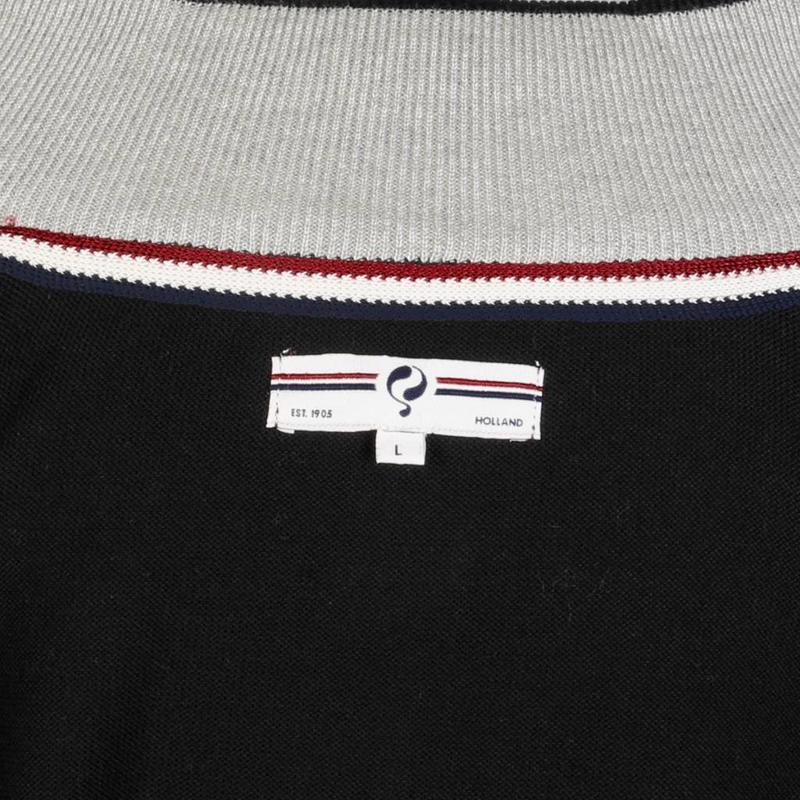 Heren Pullover Half Zip Stoke Black