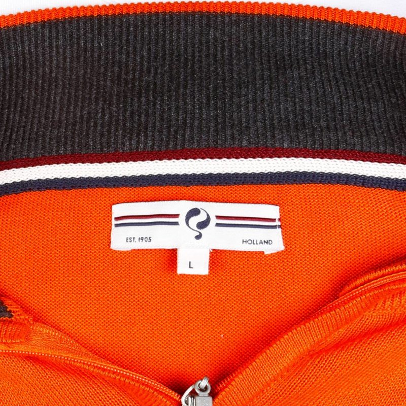 Men's Pullover Half Zip Stoke Orange