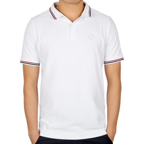 Men's Golf Polo JL Center White