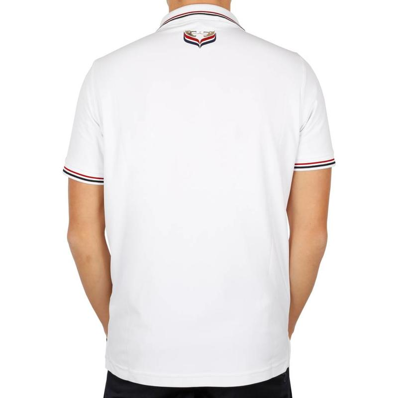Men's Golf Polo JL Center White