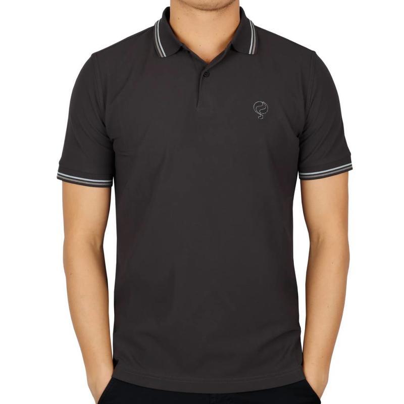 Men's Golf Polo JL Center Dk Grey