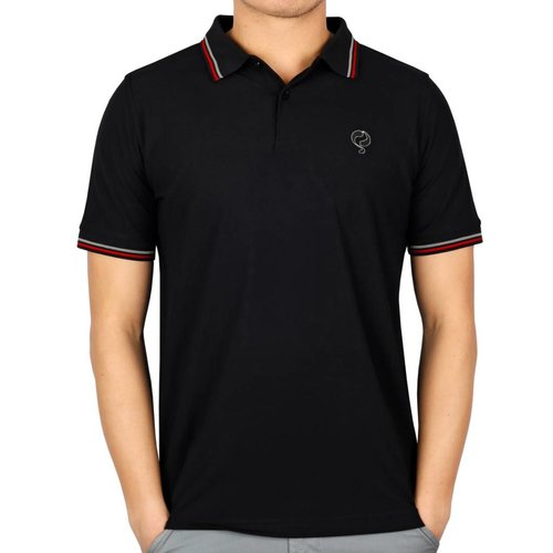 Men's Longsleeve Golf Polo JL Center Black