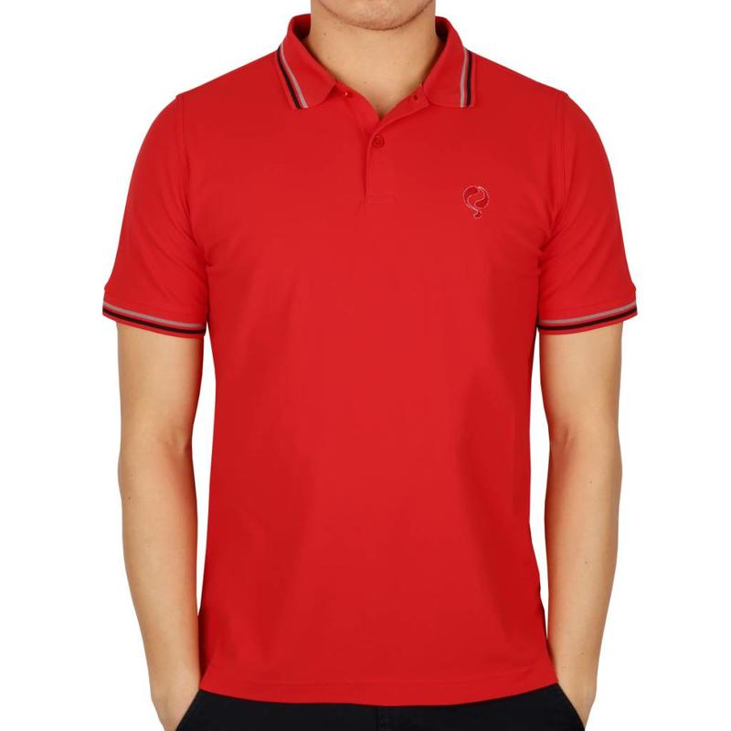 Men's Golf Polo JL Center Red