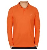 Men's Longsleeve Golf Polo JL High Orange