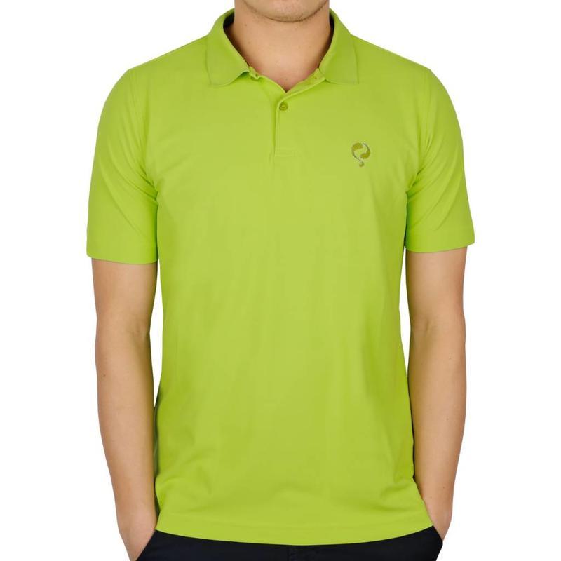 Men's Golf Polo JL Flag Lime Green