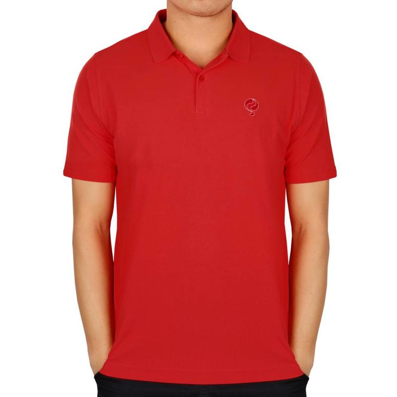 Men's Golf Polo JL Flag Red