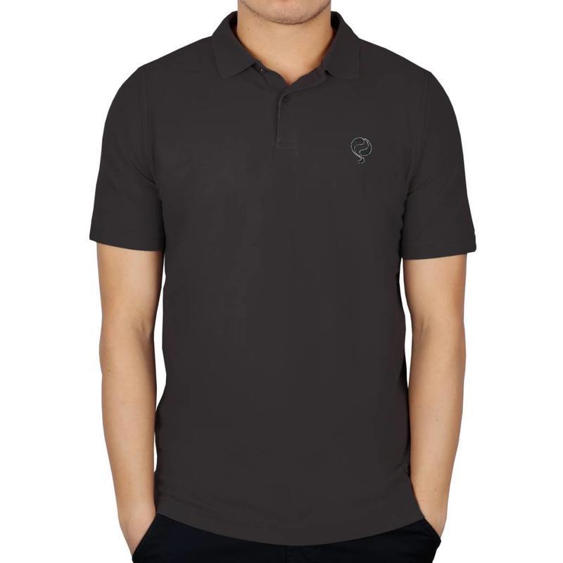 Men's Golf Polo JL Flag Dk Grey