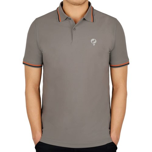 Men's Golf Polo JL Center Lt Grey