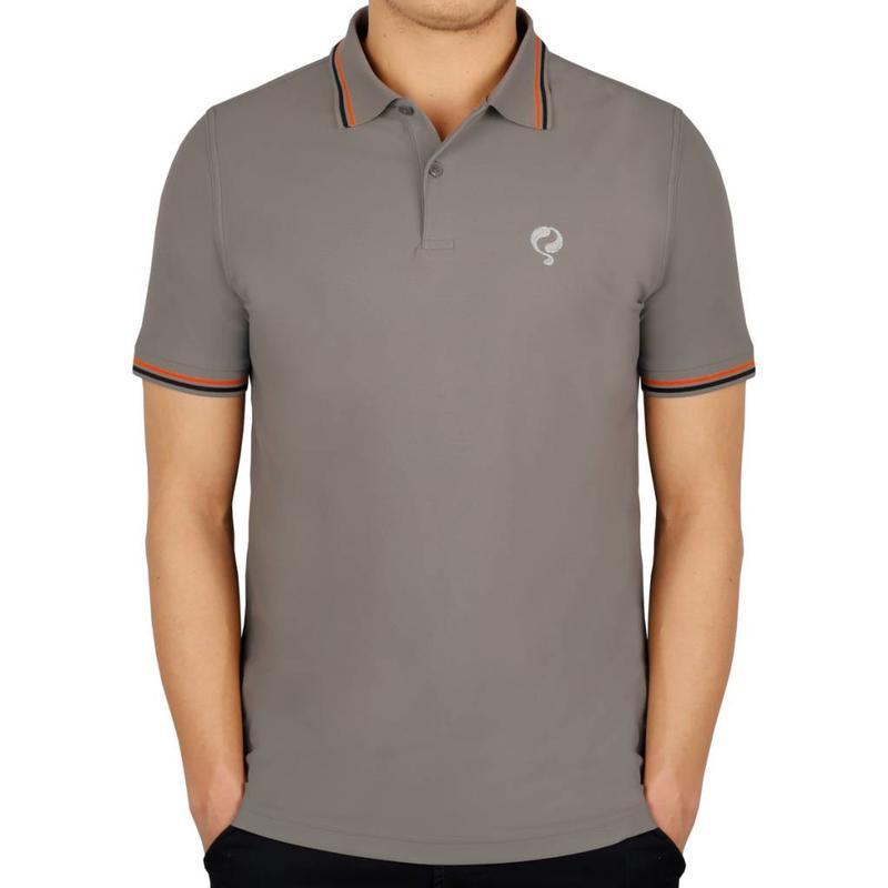 Men's Golf Polo JL Center Lt Grey