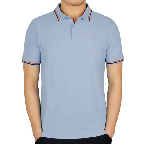 Men's Golf Polo JL Center Lt Azul