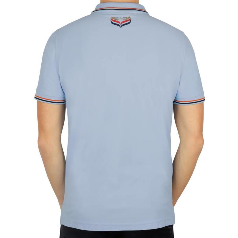 Heren Polo JL Center Lt Azul