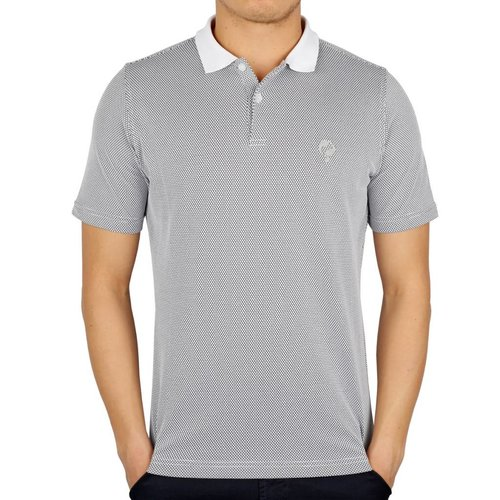 Men's Golf Polo JL Flag White / Black