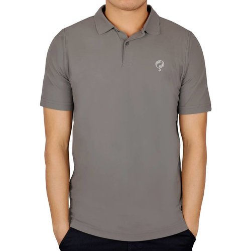 Men's Golf Polo JL Flag Lt Grey