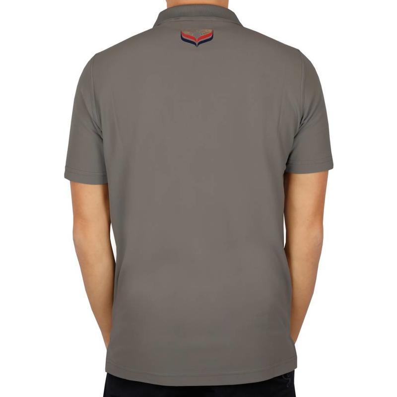 Men's Golf Polo JL Flag Lt Grey