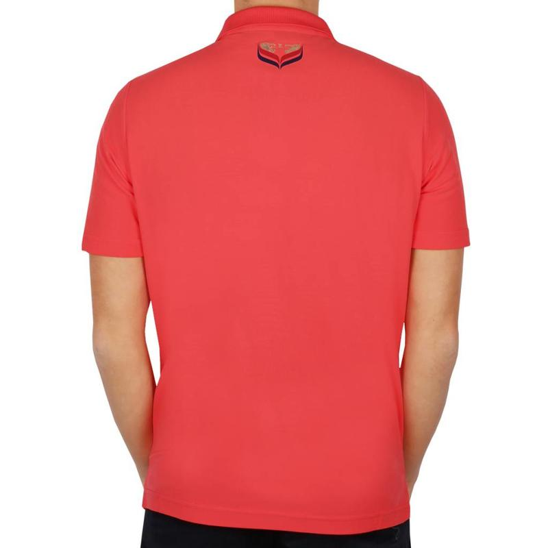 Men's Golf Polo JL Flag Scarlet Pink