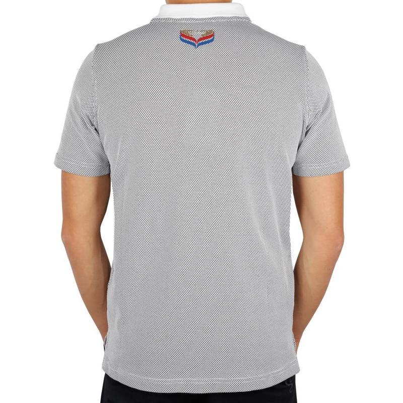 Q1905 Men's Golf Polo JL Flag White / Black